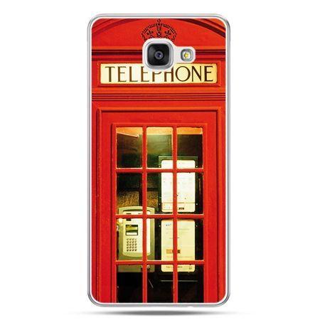 Galaxy A7 (2016) A710, etui na telefon czerwona budka telefoniczna