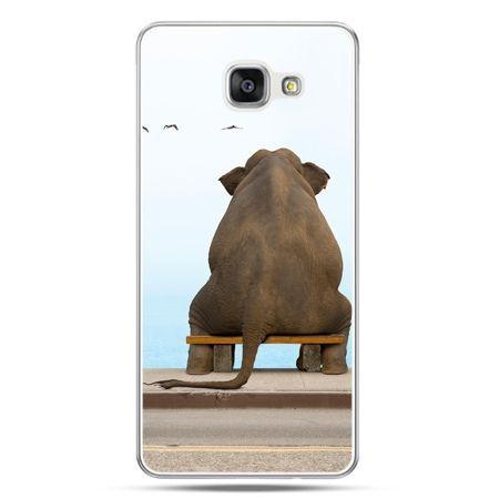 Galaxy A7 (2016) A710, etui na telefon zamyślony słoń