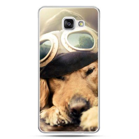 Galaxy A7 (2016) A710, etui na telefon pies w okularach