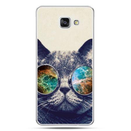 Galaxy A7 (2016) A710, etui na telefon kot w tęczowych okularach
