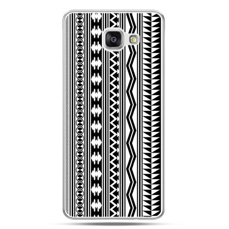 Galaxy A7 (2016) A710, etui na telefon czarno biały wzorek