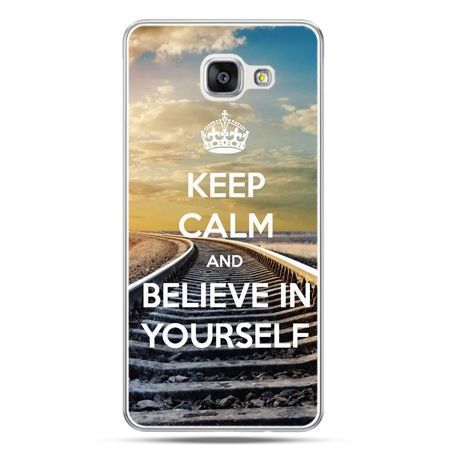 Galaxy A7 (2016) A710, etui na telefon Keep Calm and Believe in Yourself