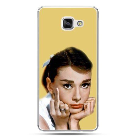 Galaxy A7 (2016) A710, etui na telefon Audrey Hepburn Fuck You