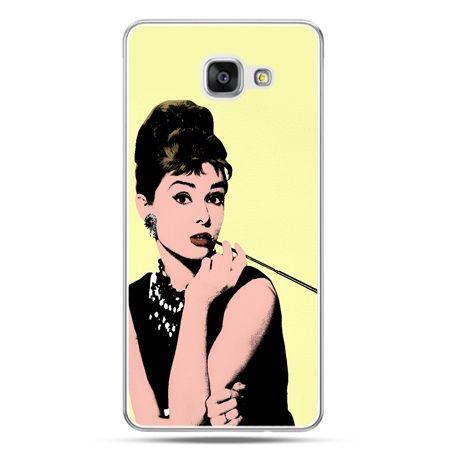 Galaxy A7 (2016) A710, etui na telefon Audrey Hepburn z papierosem