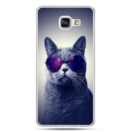 Galaxy A7 (2016) A710, etui na telefon kot hipster w okularach
