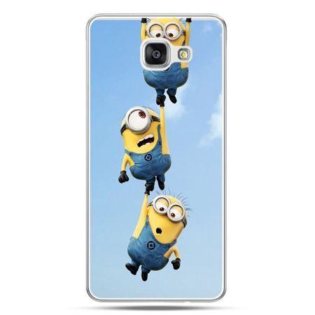 Galaxy A7 (2016) A710, etui na telefon spadające minionki