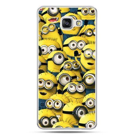 Galaxy A7 (2016) A710, etui na telefon Minionki grupa