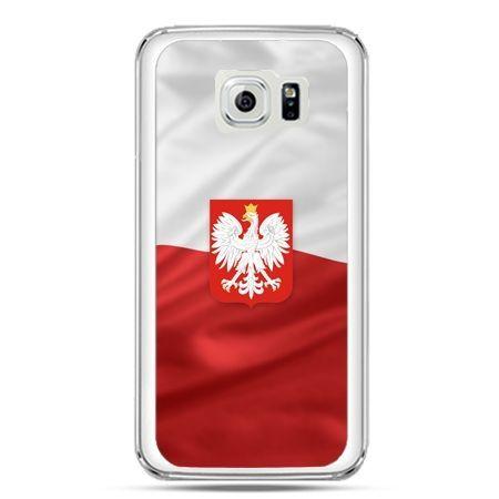 Etui na telefon Galaxy S7 patriotyczne - flaga Polski z godłem