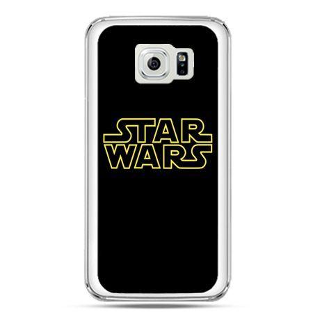 Etui na telefon Galaxy S7 Star Wars złoty napis