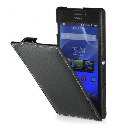 Sony Xperia M2 pokrowiec Stilgut Ultraslim skórzany czarny.