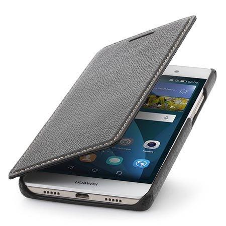 Futerał Stilgut na Huawei P8 skórzany BOOK z klapką czarny.