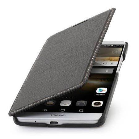 Futerał Stilgut na Huawei Mate 7 skórzany BOOK z klapką czarny.