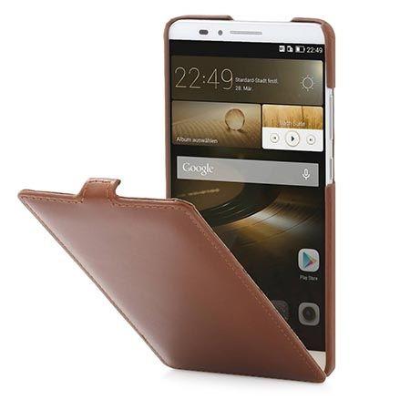 Etui Stilgut dla Huawei Mate 7 Ultraslim skórzane brązowe.