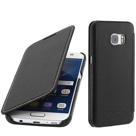 Skórzany futerał na Galaxy S7 Stilgut BOOK z klapką czarny.