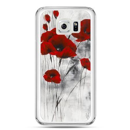 Etui na telefon Galaxy S7 czerwone maki