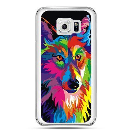 Etui na telefon Galaxy S7 neonowy wilk