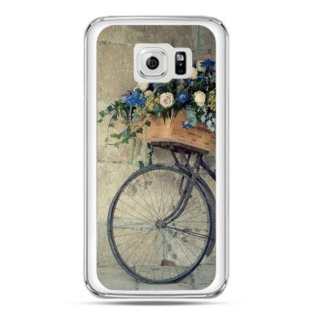 Etui na telefon Galaxy S7 rower z kwiatami