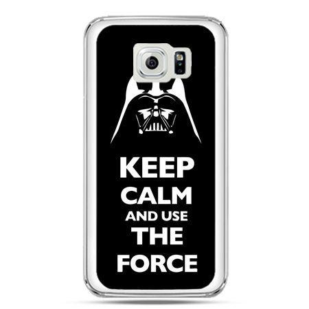 Etui na telefon Galaxy S7 Keep calm and use the force