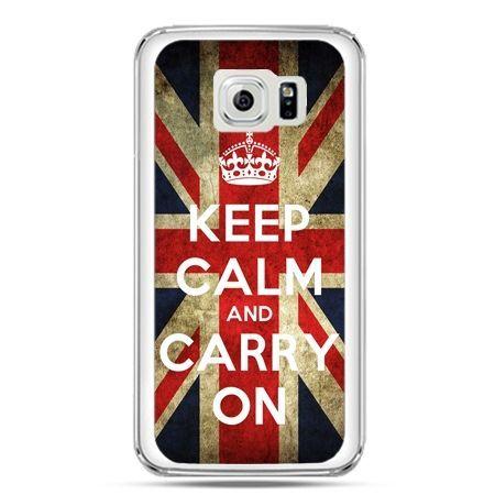 Etui na telefon Galaxy S7 Keep calm and carry on