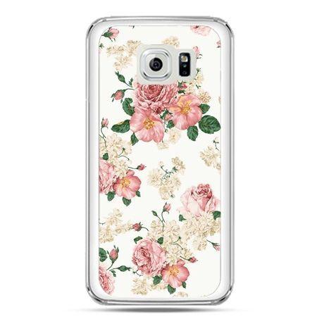 Etui na telefon Galaxy S7 polne kwiaty