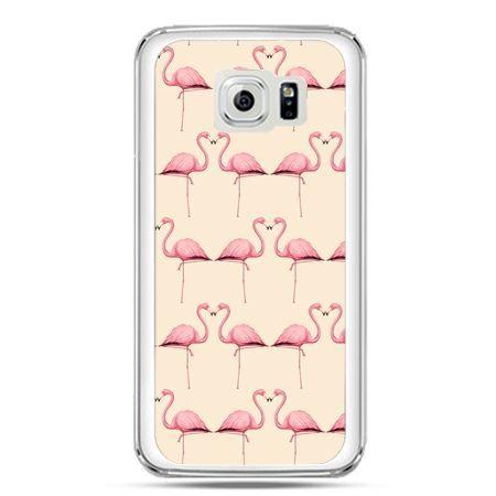 Etui na telefon Galaxy S7 flamingi