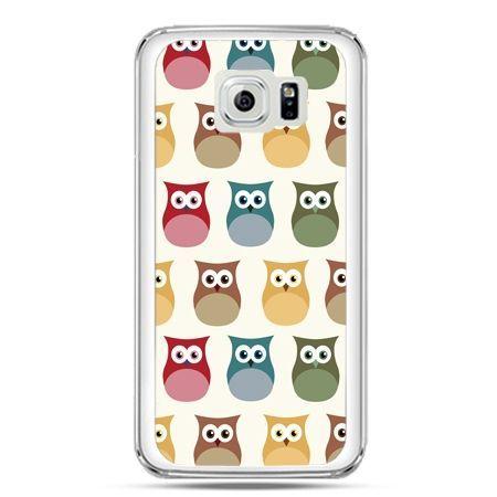 Etui na telefon Galaxy S7 kolorowe sowy