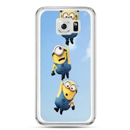 Etui na telefon Galaxy S7 spadające minionki
