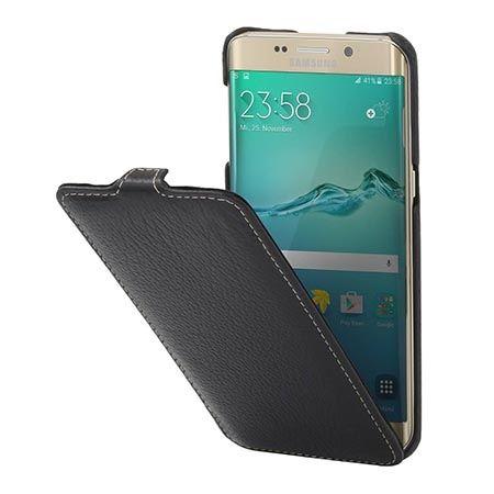 Pokrowiec na Galaxy S6 Edge Stilgut Ultraslim skóra czarny.