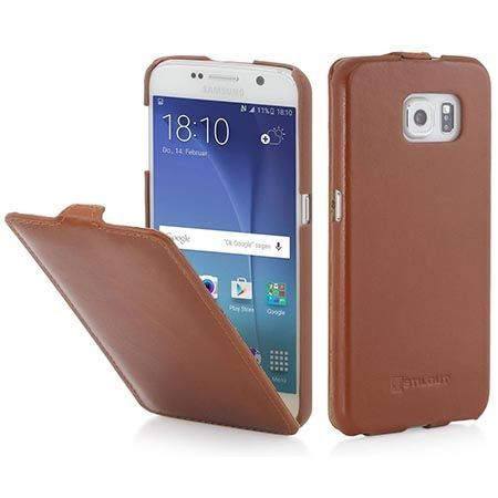 Pokrowiec na Galaxy S6 Stilgut Ultraslim skóra brązowy.