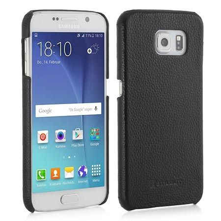 Skórzany case na Galaxy S6 Stilgut czarny.