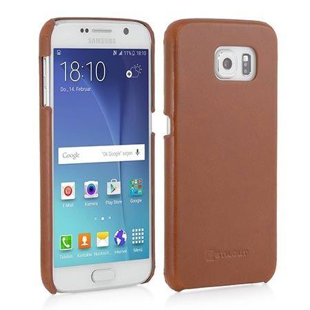Skórzany case na Galaxy S6 Stilgut brązowy.