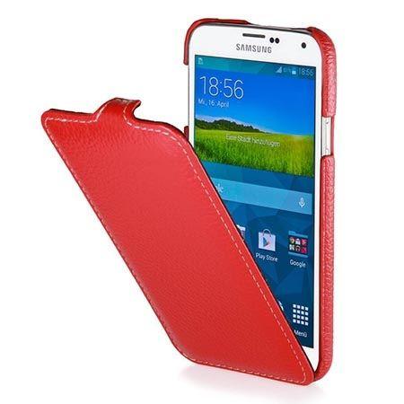 Pokrowiec na Galaxy S5 Stilgut Ultraslim skóra czerwony.