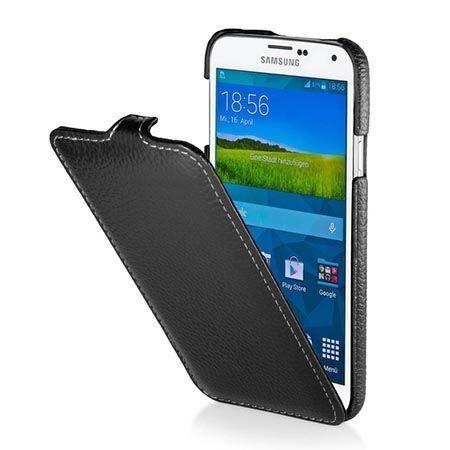 Pokrowiec na Galaxy S5 Stilgut Ultraslim skóra czarny.
