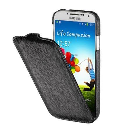 Pokrowiec na Galaxy S4 mini Stilgut Ultraslim z klapką skóra czarny.