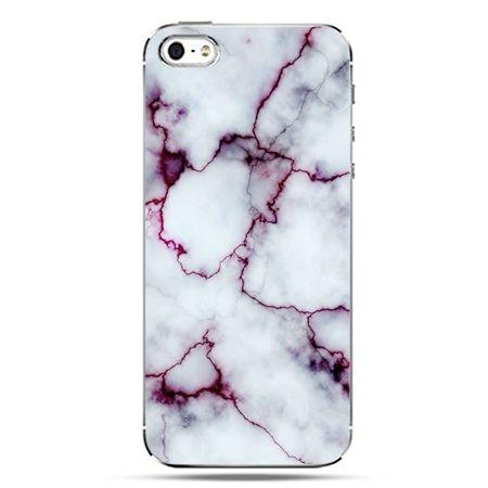 iPhone SE etui na telefon różowy marmur
