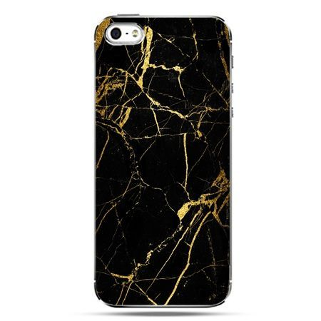 iPhone SE etui na telefon złoty marmur