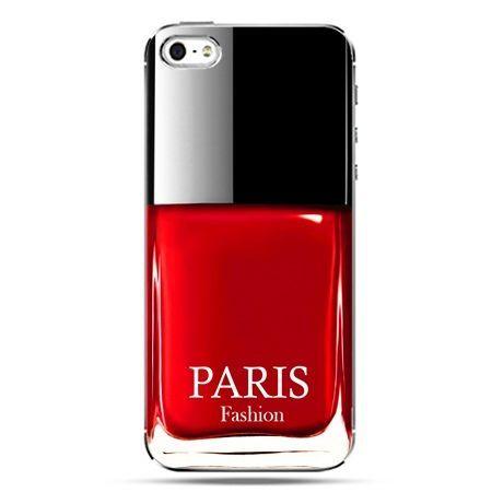 iPhone SE etui na telefon lakier do paznokci czerwony