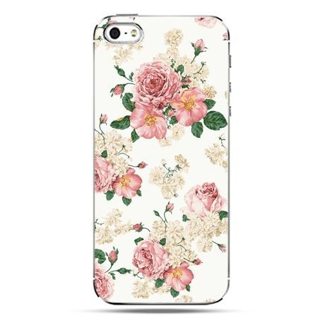 iPhone SE etui na telefon polne kwiaty