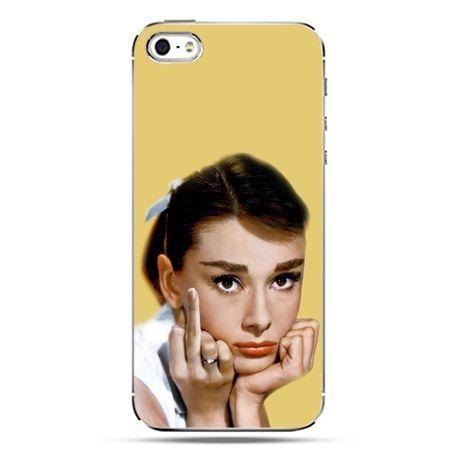 iPhone SE etui na telefon Audrey Hepburn Fuck You