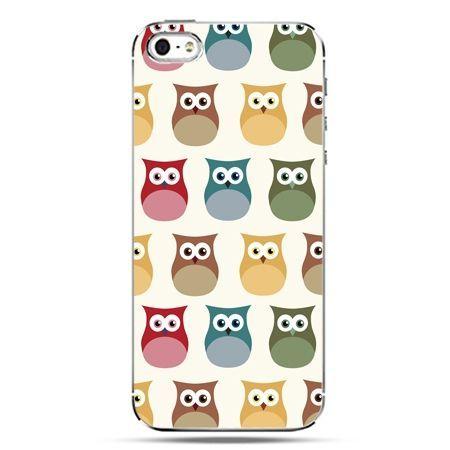 iPhone SE etui na telefon kolorowe sowy