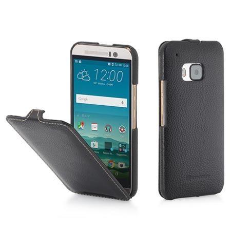 Pokrowiec na HTC One M9 Stilgut Ultraslim z klapką skóra czarny.
