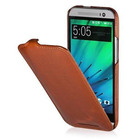 Pokrowiec na HTC One M8 Stilgut Ultraslim z klapką brązowy.