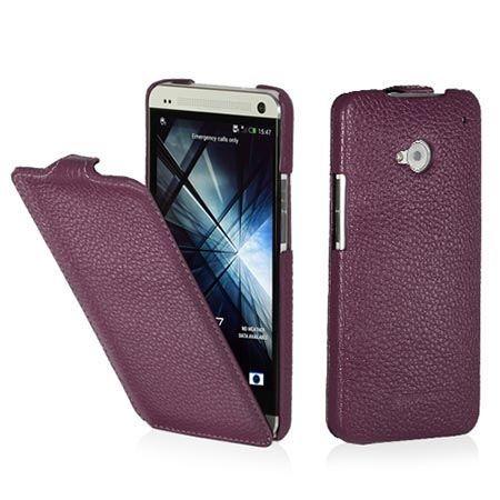 Pokrowiec na HTC One M7 Stilgut Ultraslim z klapką fioletowy.