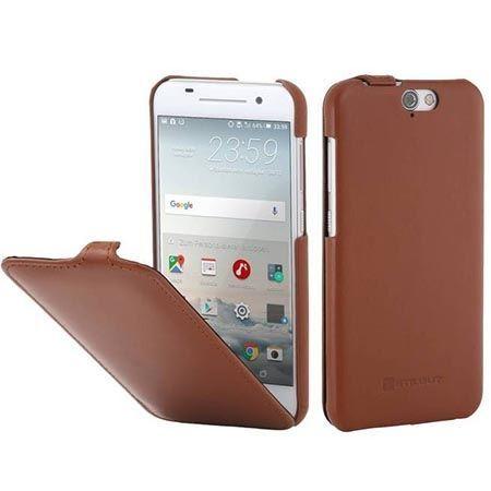 Pokrowiec na HTC One A9 Stilgut skóra Ultraslim z klapką brązowy.