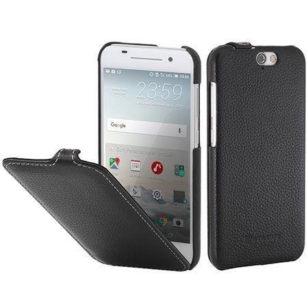 Pokrowiec na HTC One A9 Stilgut skóra Ultraslim z klapką czarny.