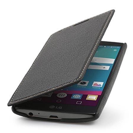 Skórzany pokrowiec na LG G3 Stilgut BOOK z klapką czarny.