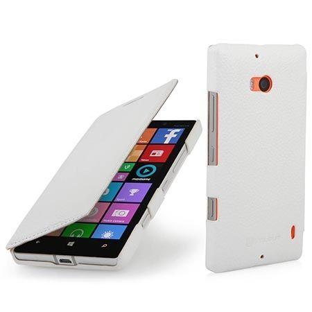 Skórzany pokrowiec na Nokia Lumia 930 Stilgut BOOK z klapką biały.