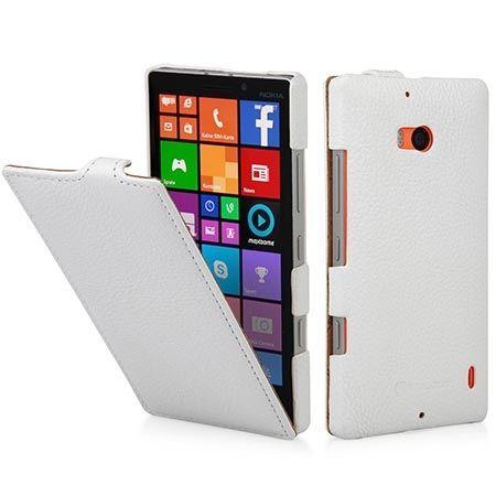 Pokrowiec na Nokia Lumia 930 Stilgut skóra Ultraslim z klapką białe.