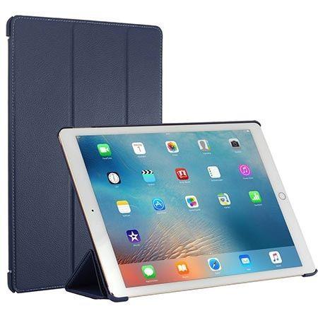 Etui na iPada Pro Stilgut Smart Cover skóra niebieskie.