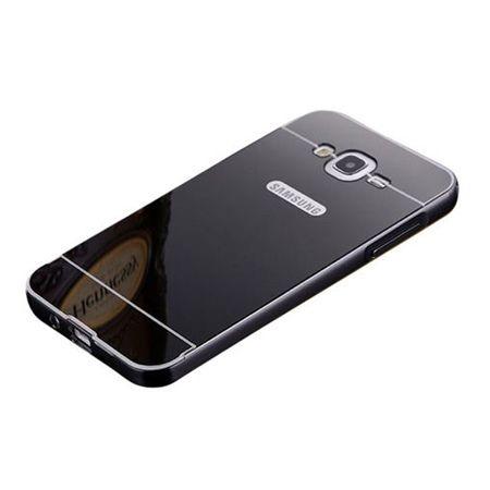 Mirror bumper case na Glaxy J5 - Czarny
